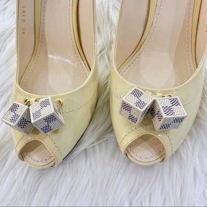 Louis Vuitton Shoes - Louis Vuitton Patent Saint Honore Dice Heels 41